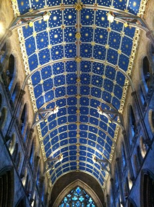 Painted ceiling in Carlisle Cathedral
