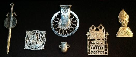 Replica 14th Century Pilgrim Badges From Canterbury