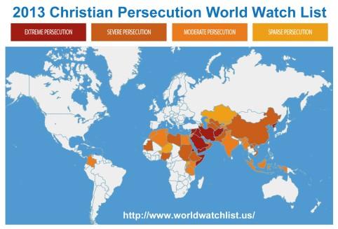 2013 Christian Persecution Watch List