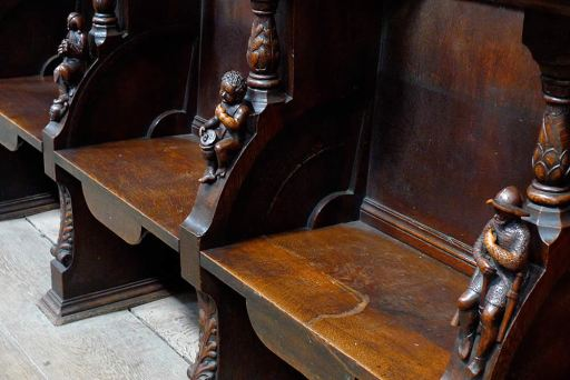 Misericords shown in their down position