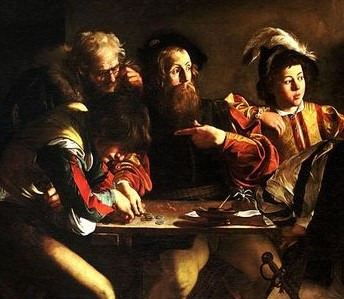 Detail from The Calling of Saint Matthew by Caravaggio (1599)