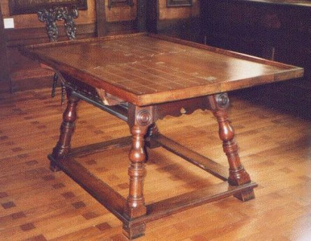 Rare surviving medieval counting table now in a Strasbourg museum.