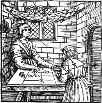 Counting table from an early woodcut