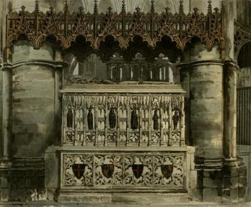 Tomb of Edward III in Westminster Abbey