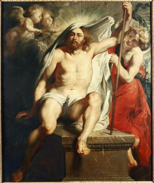 Resurrected Christ Triumphant, Peter Paul Rubens, c. 1616, oil on canvas. Galleria Palatina, Palazzo Pitti, Florence