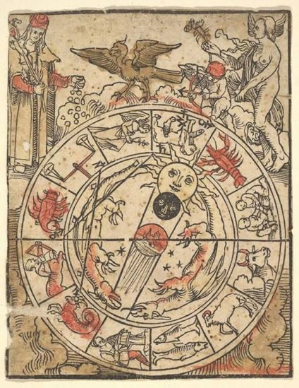 Chart of the Signs of the Zodiac - Hans Baldung Grien (1484-1545)