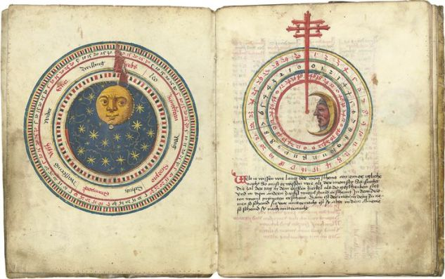 1496 copy of a German calendar created by Johannes Von Gmunden (c.1380-1443).