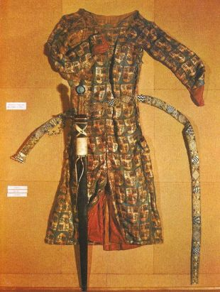 Tunic, sword and belt from the Royal Monastery of Las Huelgas, in Burgos, Spain (13th century)