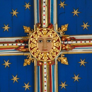 Detail of Carlisle painted ceiling