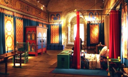 Re-creation of Henry II's private bedchamber in Dover Castle (13th Century)