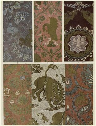 Surviving examples of medieval fabrics