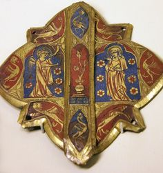 Enameled cape clasp (14th century)