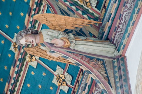 Painted ceiling from St. Edmund's Church, Southwold, England (15th century)