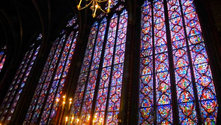 13th century stained glass from Sainte-Chapelle in Paris