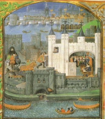 "An illustration of the Tower of London's ""White Tower"" with its coating of lime wash"