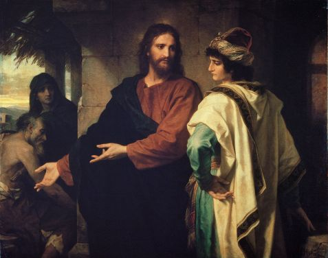 """Christ and the Rich Young Ruler"" by Heinrich Hofmann, 1889."