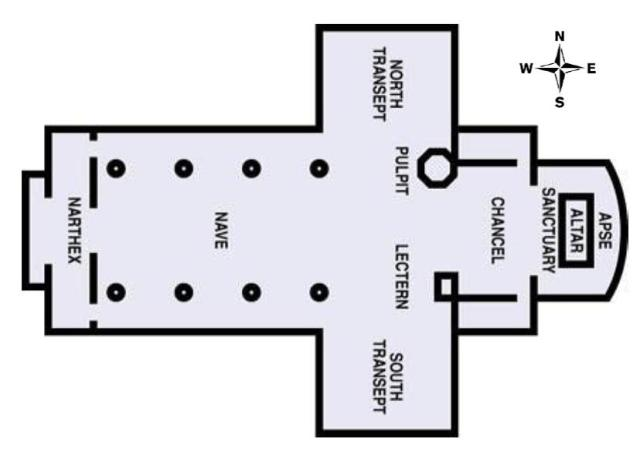 Cathedral floorplan