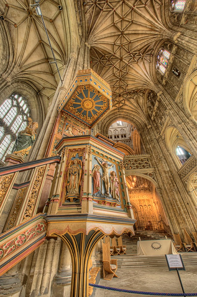 Pulpit and nave with HDR post processing